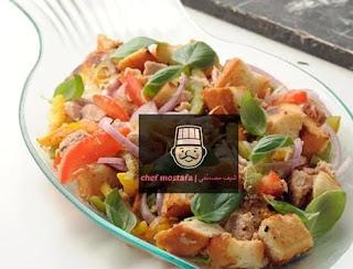 Tuna salad and bread