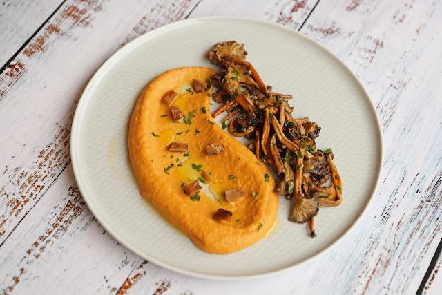 Συνταγή για Κρέμα Κολοκύθας με Κάστανο και Μανιτάρια Σοτέ