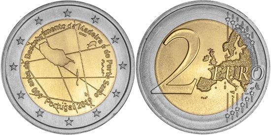 Portugal bimetallic 2 euro coin 2019 Discovery Of The Madeira Archipelago