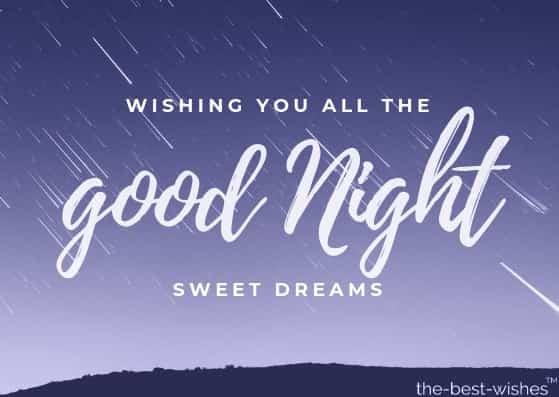 wishing you all good night sweet dreams card
