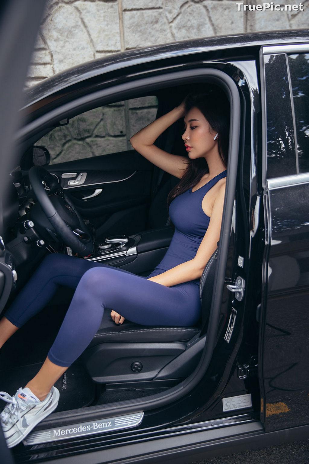 Image Korean Fashion Model - Park Da Hyun - Navy Sportswear - TruePic.net - Picture-16