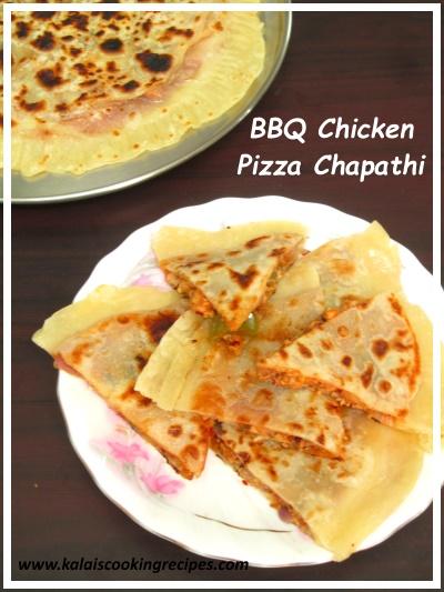 Pizza Chapathi | Delicious BBQ Chicken Tawa Pizza Chapathi ...