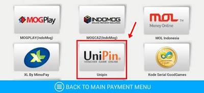 Cara Isi Cash atau GEM PB Mobile Indonesia Melalui UNIPIN