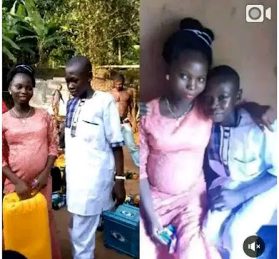 Family Forced 14-year-old Boy To Marry His Older Girlfriend  After Impregnating Her, Nigerians Reacts