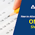 How to attempt on OMR Sheet?