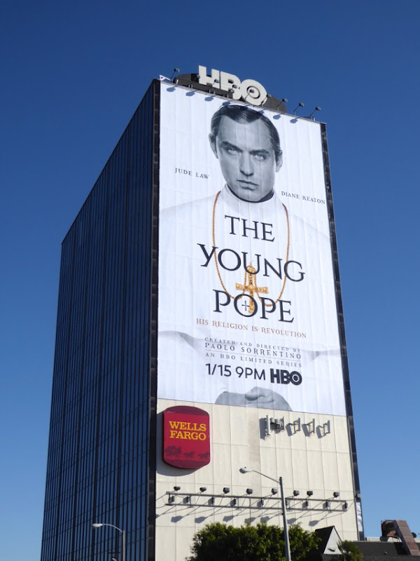 Giant Jude Law The Young Pope limited series billboard
