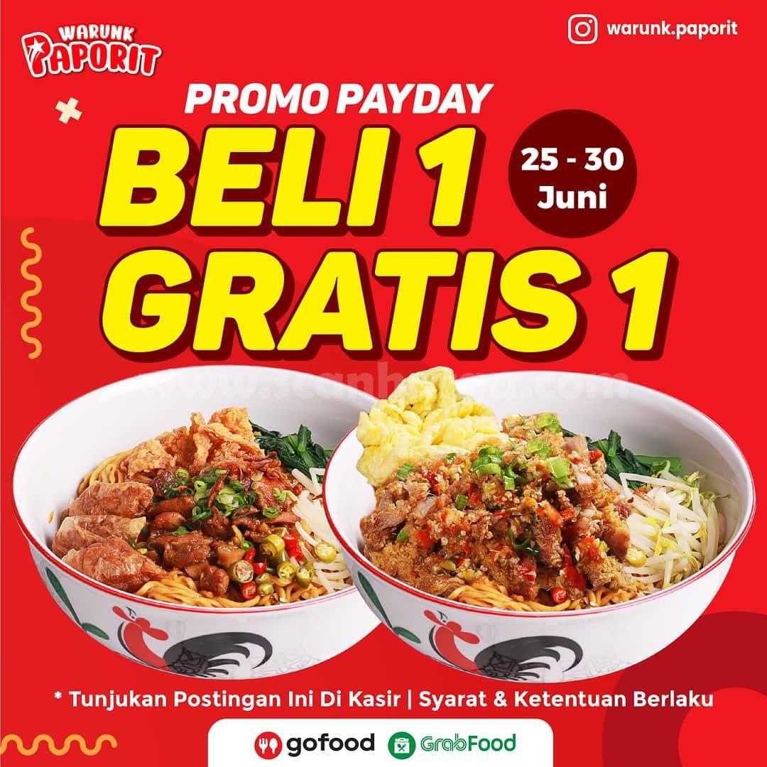 Warunk Paporit Promo Payday Beli 1 Gratis 1