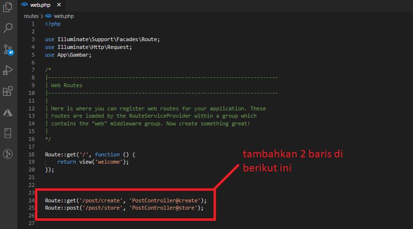 route web.php -sahretech