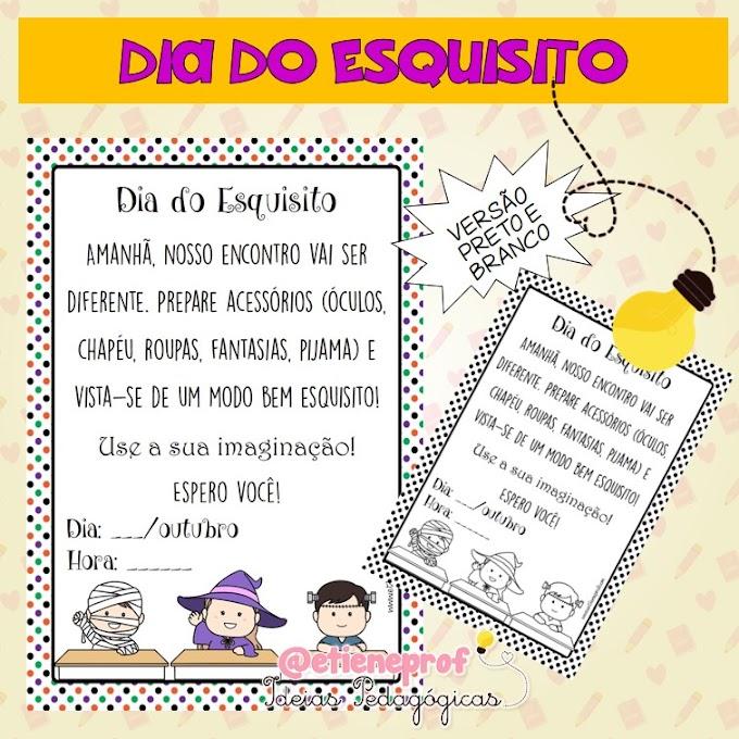 BILHETINHO DIA DO ESQUISITO!