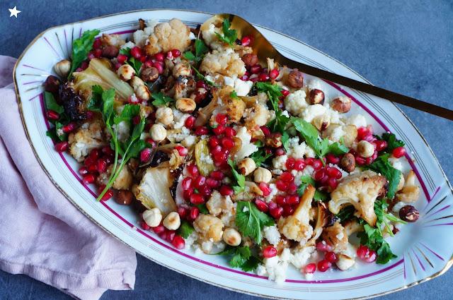 salade chou fleur grenade vegan sans gluten