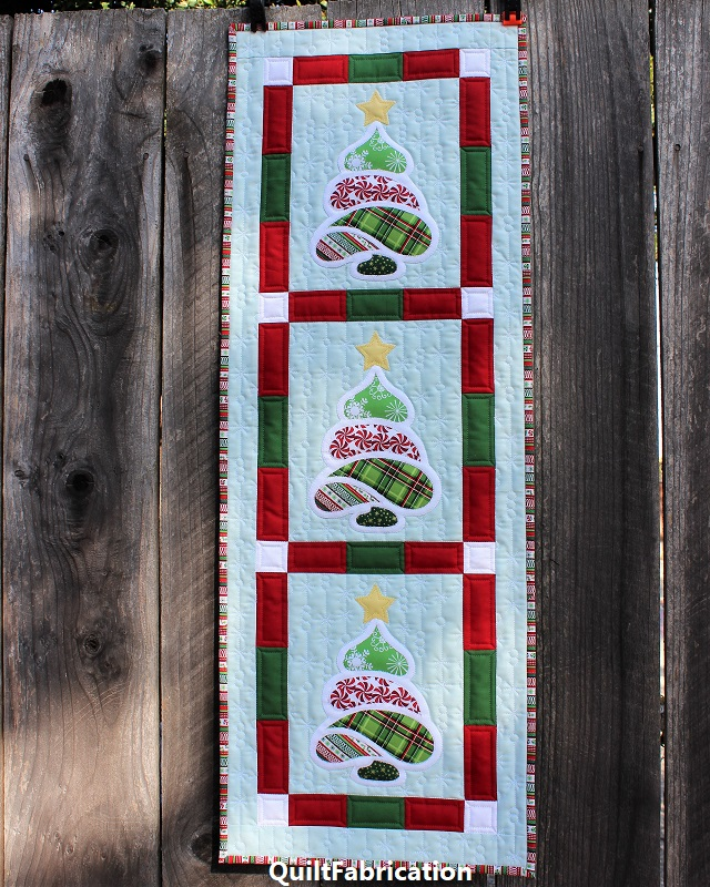 Christmas Trees wall hanging by QuiltFabrication
