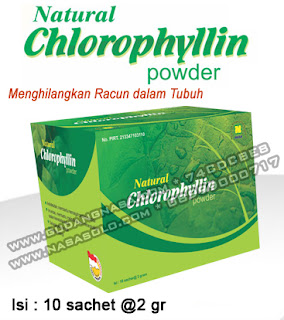 CHLOROPHYLLIN NASA POWDER Rp.100.000,-