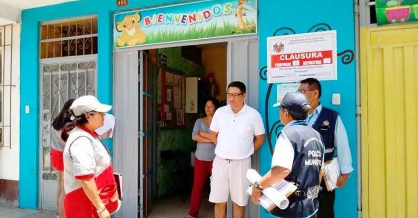DRELM supervisa clausura de establecimientos ilegales - www.drelm.gob.pe