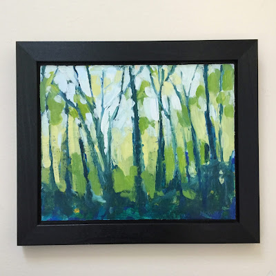 """""""Invitation"""" painting of trees by Barb Mowery (c) 2020"""