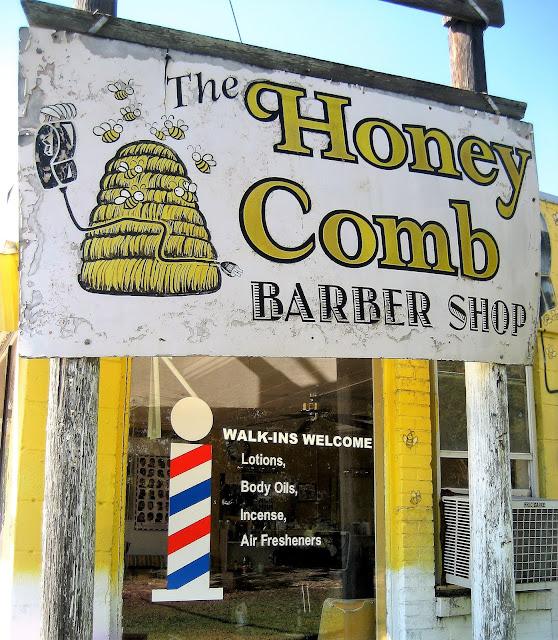 The Honey Comb Barber Shop, Opelousas, Louisiana. October 2015.