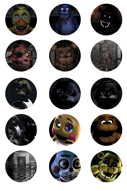 photo relating to Five Nights at Freddy's Printable Mask referred to as 5 Evenings at Freddys Printable Stickers - FNAF No cost