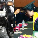 Suami Kerja Banting Tulang Jadi Mekanik Motor Agar Istri Berhasil Wisuda, Setelah Lulus istri Minta Cerai