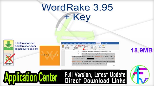 WordRake 3.95 + Key