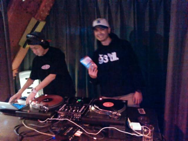 六本木トリプルトゥエンティのオープニングパーティにて。DJ-OBA,DJ-Y∀SU