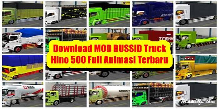 download mod bussid truck hino 500 full animasi
