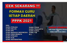 Formasi Kebutuhan Guru Setiap Daerah Untuk PPPK 2021