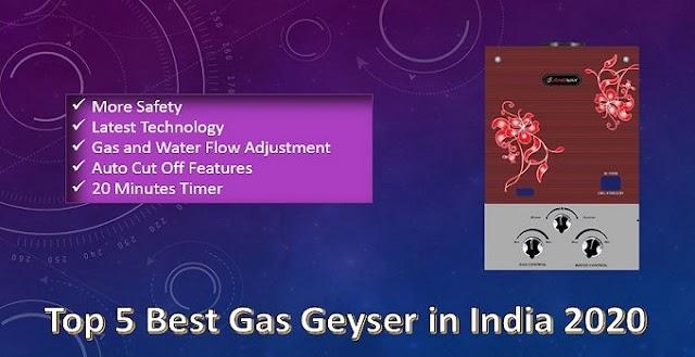 Top 5 Best Gas Geyser in India 2020