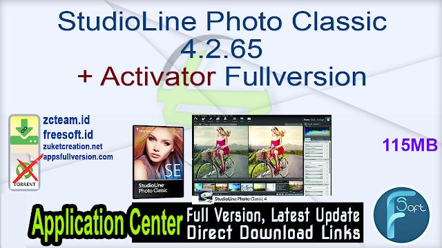 StudioLine Photo Classic 4.2.65 + Activator Fullversion