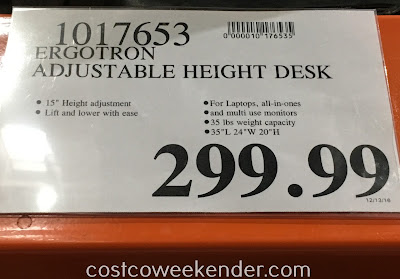 Deal for the Ergotron Home Sit or Stand Height-Adjustable Workspace Lift35 at Costco