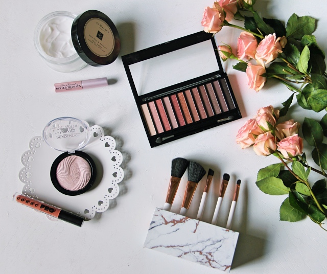 vegan beauty blogger makeup flatlay cruelty free