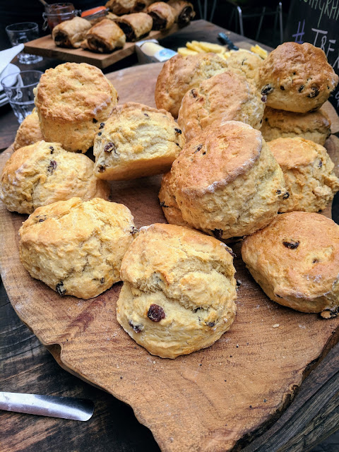 West Cork food: Scones from Kalbos Cafe in Skibbereen