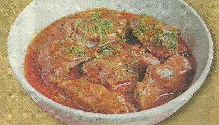 Состав продуктов и способ приготовления сливочного гуляша со свининой