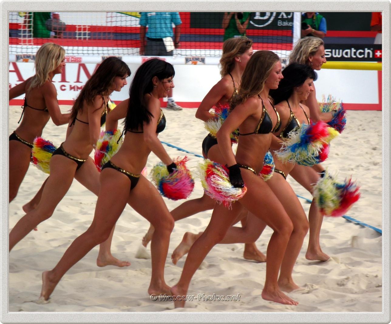Beach Volleyball Summer Cheerleaders