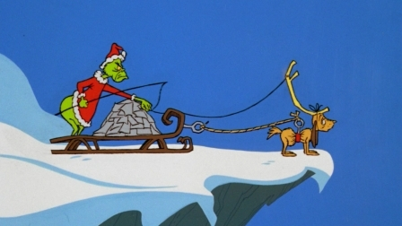 Max at the edge of the cliff in How the Grinch Stole Christmas movieloversreviews.blogspot.com