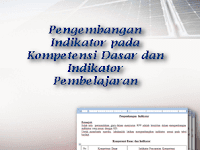 Pengembangan Indikator pada Kompetensi Dasar dan Indikator Pembelajaran