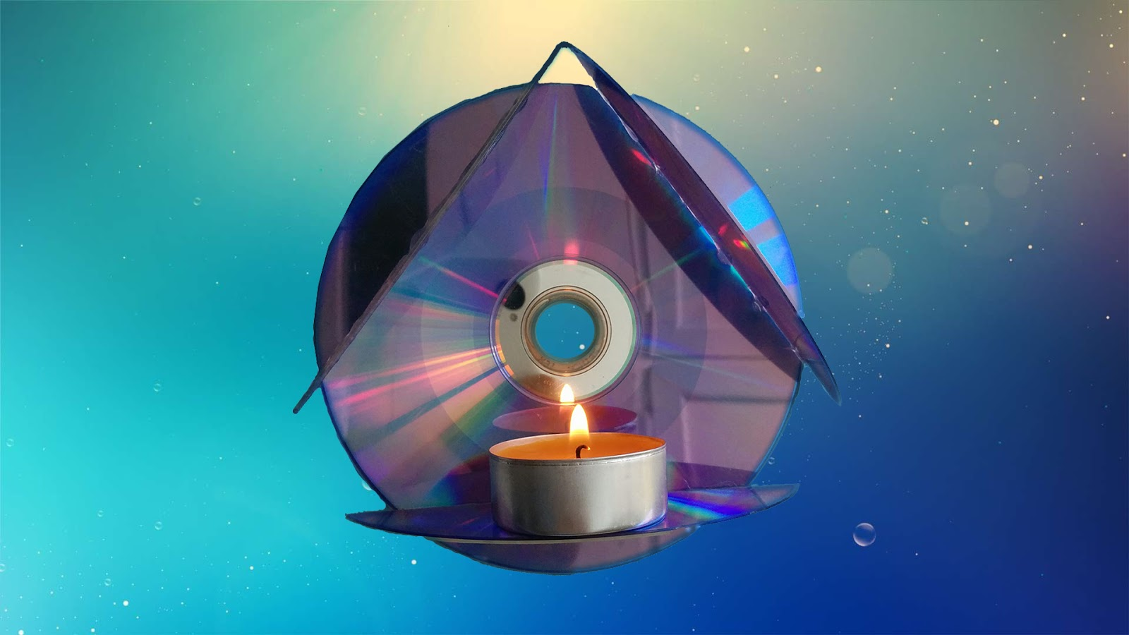 How To Make Wall Hanging Lamp With Old CDsEasy Recycled Cd Craft For Childern And AdultsYou Made It From Cds