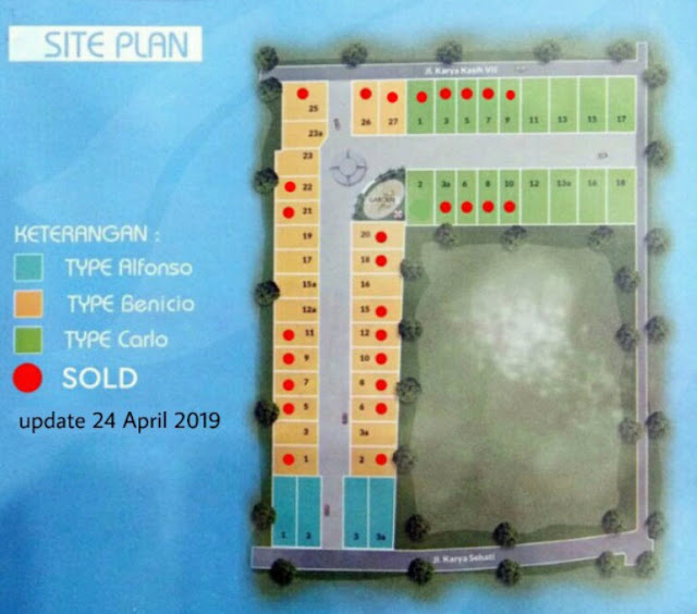 Site Plan Karya Kasih Mansion rumah mewah, aman, tenang di tengah kota dekat Carrefour Padang Bulan Medan Sumatera Utara