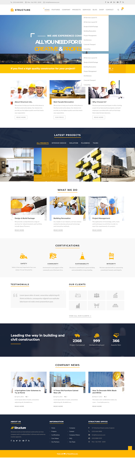 Construction WordPress