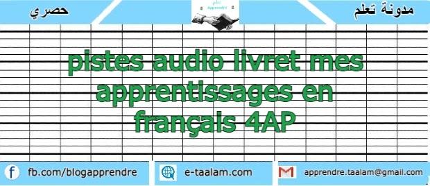 pistes audio livret mes apprentissages en français 4AP