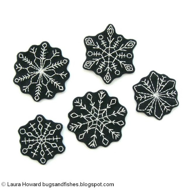 free snowflake embroidery patterns