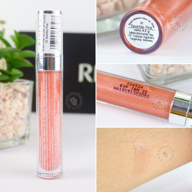 Review Rivera Moisture Glow Lip Gloss 02 Sparkle Pink
