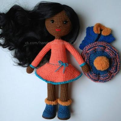 Кукла мулатка крючком