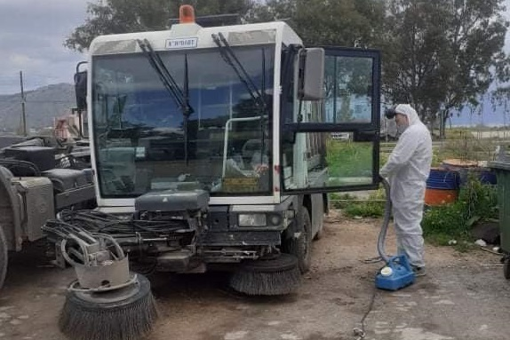 Ναύπλιο: Απολυμάνσεις σε οχήματα καθαριότητας και στο αμαξοστάσιο
