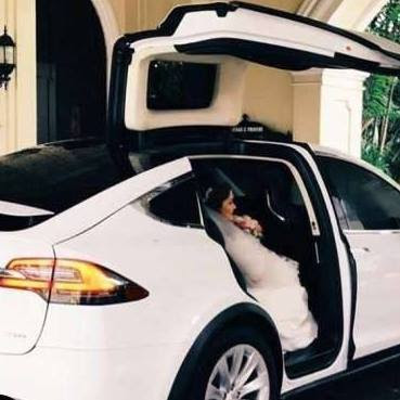 Arrive in Style on your wedding day with the Tesla Model X