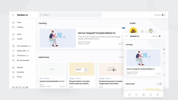 Download Median UI Premium Blogger template