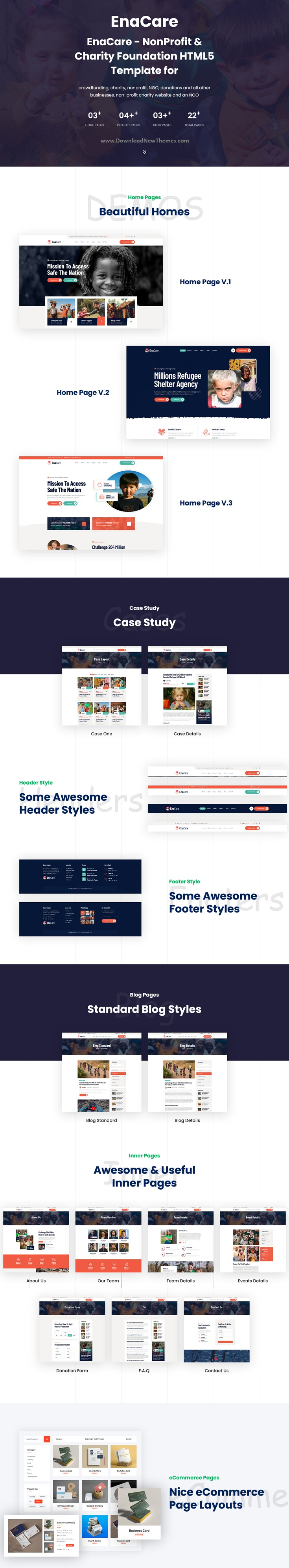 NonProfit & Charity Foundation Bootstrap Template