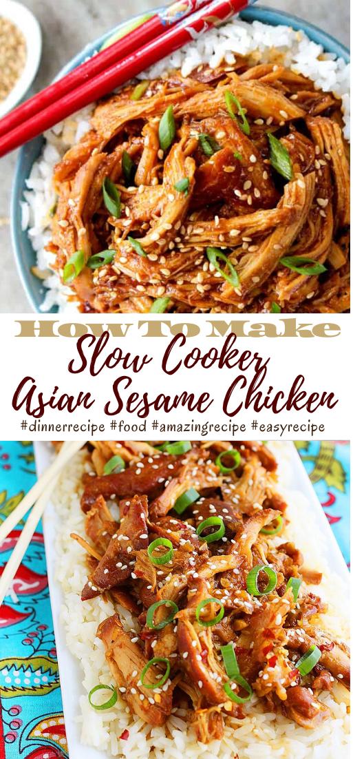 Slow Cooker Asian Sesame Chicken #dinnerrecipe #food #amazingrecipe #easyrecipe