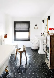 Cool Black and White Bathroom