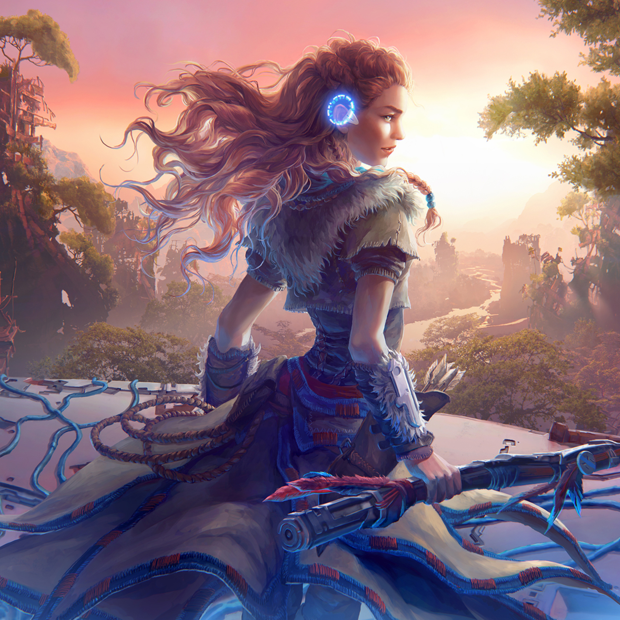 Download 1080x2160 Wallpaper Artwork Aloy Archer Video Game