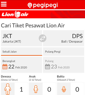 cari tiket pesawat lion air