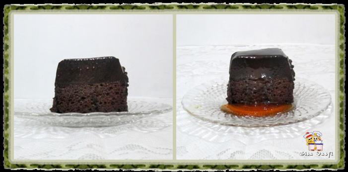 Bolo-pudim de chocolate 2